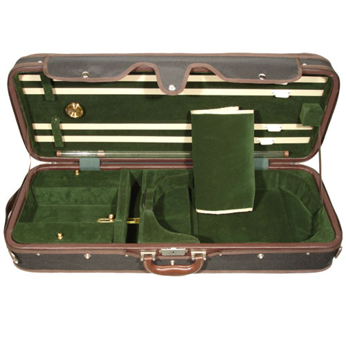 "Adjustable 15"" to 16.5"" A5A-150 Green/Black Viola Case"