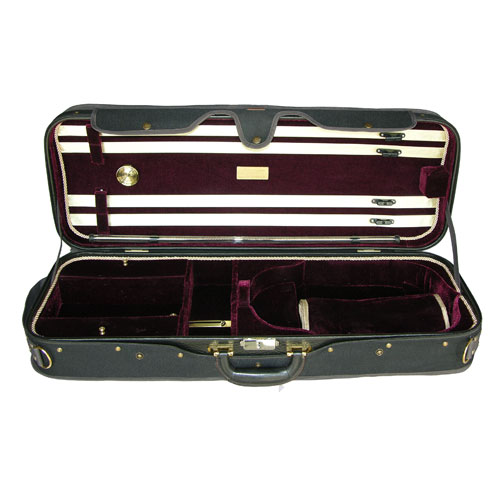 "Adjustable 15"" to 16.5"" A5A-120 Dark Burgundy/Black Viola Case"
