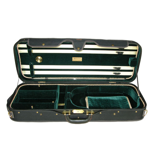 "Adjustable 15"" to 16.5"" A5A-120 Green/Black Viola Case"