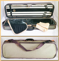 A5-110 Oblong Grey Petroleum/Olive Case