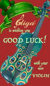 St. Patrick's Day Sale at Gliga ViolinsLover.com