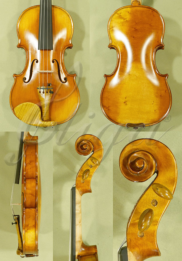 Antiqued 1/4 ADVANCED 'GENOVA 3' Bird's Eye Maple One Piece Back Violin
