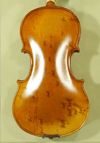 Antiqued 1/2 ADVANCED \'GENOVA 3\' Bird\'s Eye Maple One Piece Back Violin on sale